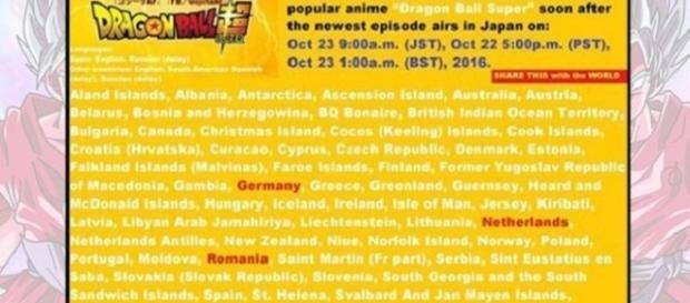 Revelada la lista de países beneficiados por la serie