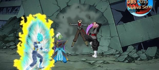 Vegeta superara sus limites para derrotar a los villanos