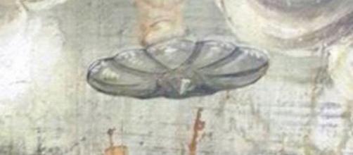 Il presunto UFO dell'affresco medievale.