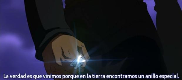 Black Goku y su anillo dimensional
