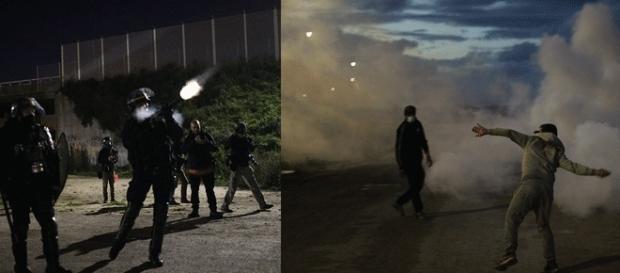 Dans la Jungle de calais, des affrontements se sont produits entre migrants et policiers dans la nuit de samedi à dimanche 22 oct.
