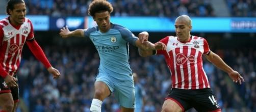 Manchester City (1) x (1) Southampton - 1º turno, 9ª rodada.