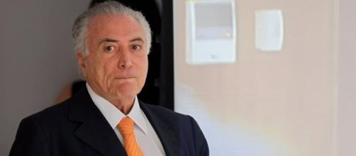 Temer no interior do Palácio do Planalto