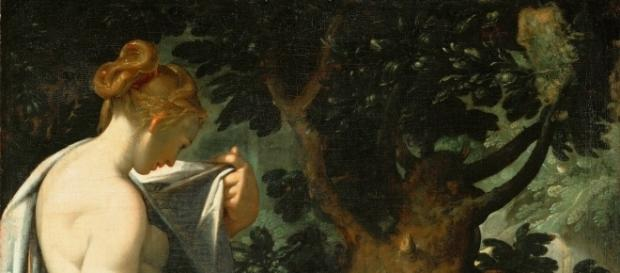 Salmakis i Hermafroditos – obraz Bartholomeusa Sprangera