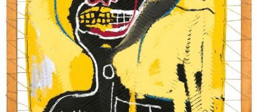 Le opere di Jean‐Michel Basquiat in mostra a Milano.
