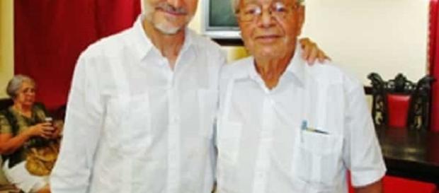 Carmelo Gonzáles y Francisco Montalbán, embajador de España en Cuba