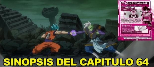 Goku pelea contra el inmortal Zamasu.