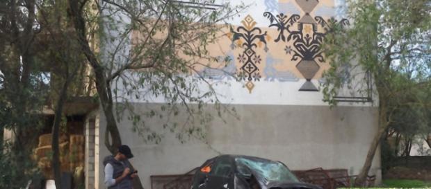 Il luogo dell'incidente e nella foto piccola, in basso destra, Marco Tedde.