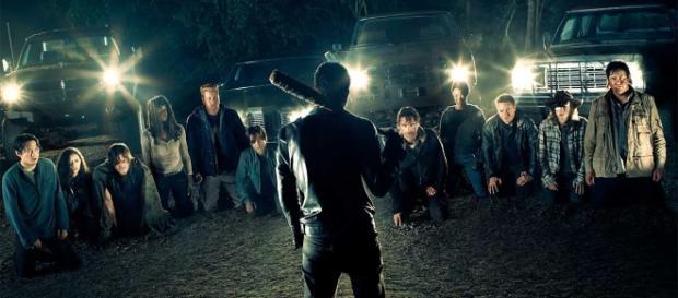 """L'inizio della settima stagione di """"The walking dead""""."""