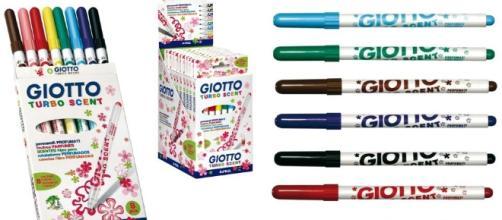I famosi pennarelli profumati Turbo Scent di Giotto sono stati ritirati dal mercato francese perché ritenuti tossici