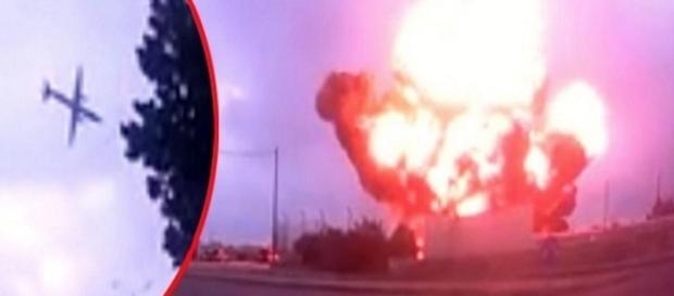 Aeronave cai em Malta e matam cinco pessoas, a queda foi registrada em vídeo.