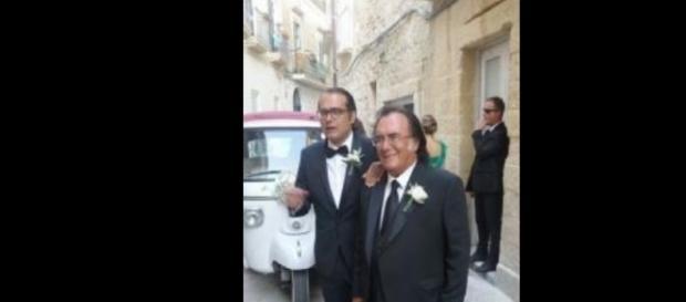 Al Bano durante il matrimonio della figlia Cristel.