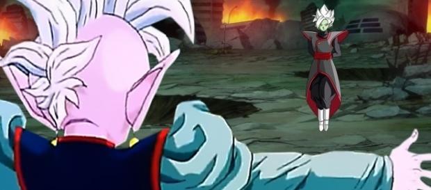 El kaioshin del septimo universo interviene en la batalla