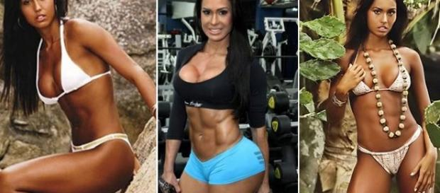Gracyanne Barbosa antes e depois da academia