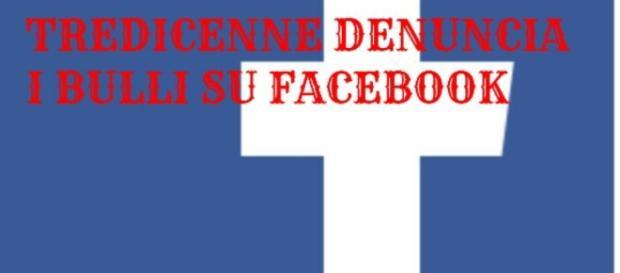 La denuncia di bullismo arriva su Facebook.