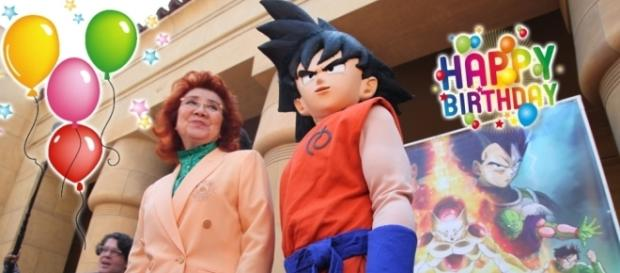 "Masako et Goku à l'occasion de la sortie du film ""Fukkkatsu no F"" !"