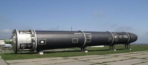 As primeiras imagens divulgadas do míssil russo denominado de 'Satã 2'.
