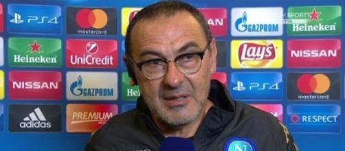 Maurizio Sarri in conferenza stampa