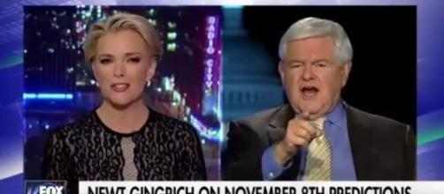 Megyn Kelly and Newt Gingrich on Trump campaign, via YouTube