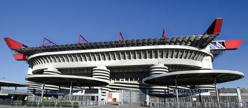 San Siro, l'antre mythique du Milan AC, dans laquelle il vient de battre la Juventus Turin.