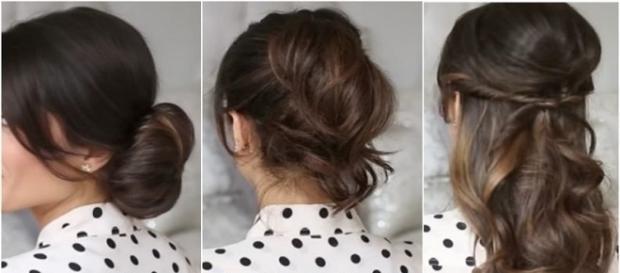 alguns penteados lindos e práticos na hora da pressa