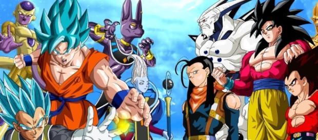 Imagen sobre los personajes de Super vs los de GT