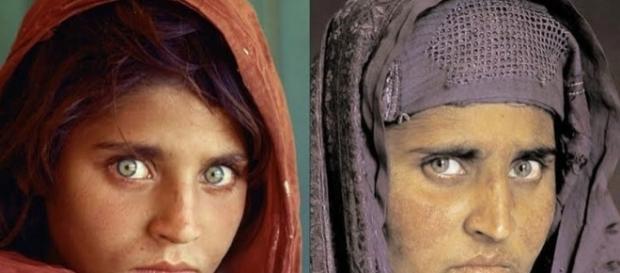 La Monna Lisa afghana fotografata da Steve Mc Curry per National Geographic nel 1984 e nel 2002