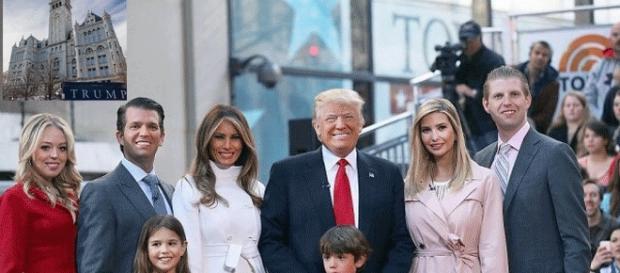 """Les Trump logés à Washington (insert) : Ivanka fait """"cheese"""" et Donald « ouistiti-sexe »"""