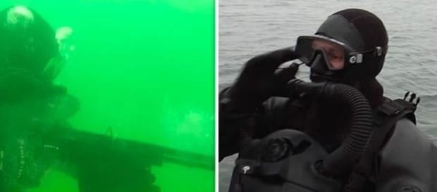 Militares exibiram trinamento aquático e terrestre (RT)