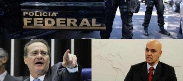 Renan Calheiros chegou a acusar ministro após ações da PF (Foto: Reprodução)