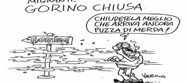 Vauro offende la comunità di Gorino