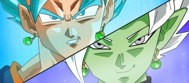 Vegetto vs la fusion de Zamasu en un fan art