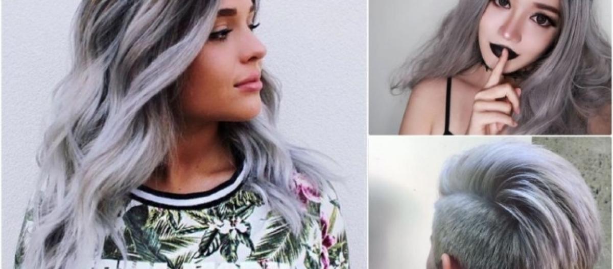 Nuove tonalità capelli  smokey grey 554bb56de9f7