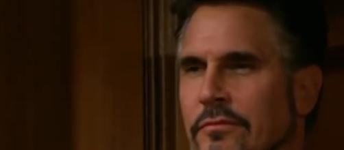 Bill discovers Ridge talking to Brooke, screencap via CBS.com