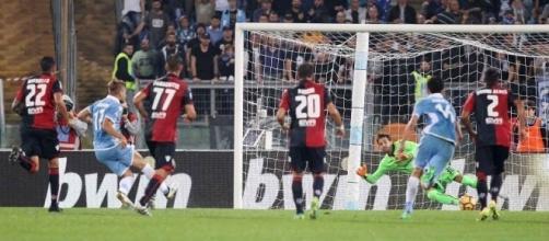 Lazio - Cagliari 4-1 del 26-10-2016, record negativo Cagliari per gol subiti