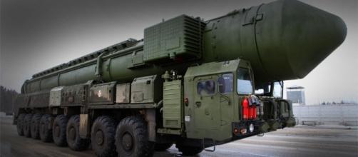 Misil ruso con capacidad para ojivas nucleares.