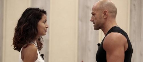 Nella foto: Mariana e Stefano al GF Vip