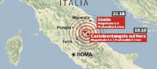 Terremoto: Ussita e Castelsantangelo sul nera, l'epicentro