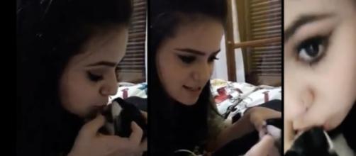 Viih Tube revoltou internautas ao cuspir na boca de seu gato.