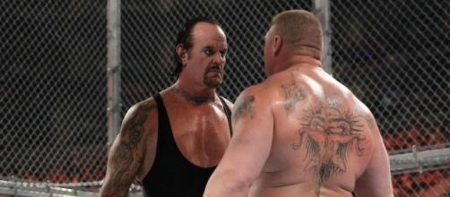 WWE: The Undertaker vs. Brock Lesnar -- Hell in a Cell [Image by WWE]