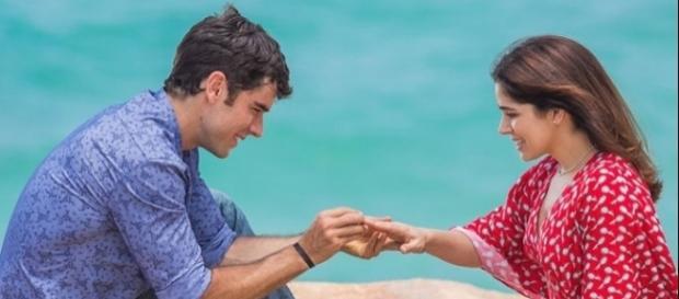 Felipe e Shirlei em 'Haja Coração' (Divulgação/Globo)