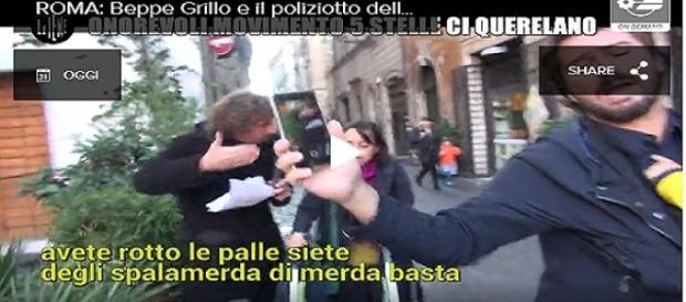 Le Iene e Filippo Roma nella puntata del 30.10.2016 mentre vengono insultati
