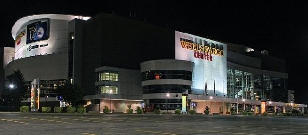 Wells Fargo Center (credit: PHL Approach - wikimedia.org)