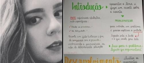 Depois de publicar esquema valioso para o Enem, professora fica famosa na web