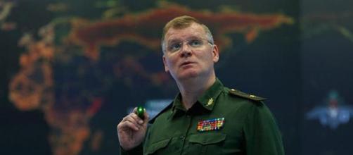 Il generale Igor Konashenkov, portavoce del ministero della difesa del Cremlino