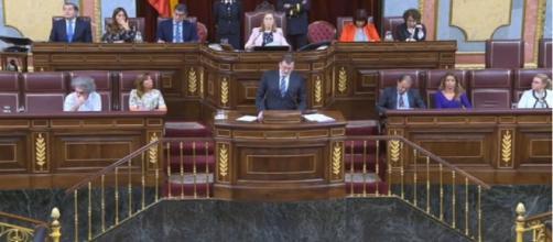 Mariano Rajoy durante el segundo debate