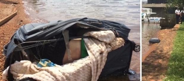Corpo estava em bagagem na margem do Lago Paranoá