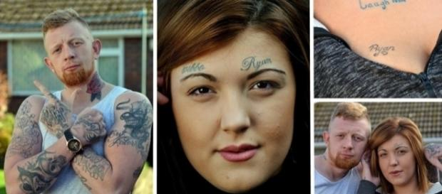 Esse cara tatuou 39 ex-namoradas no rosto com o seu nome.