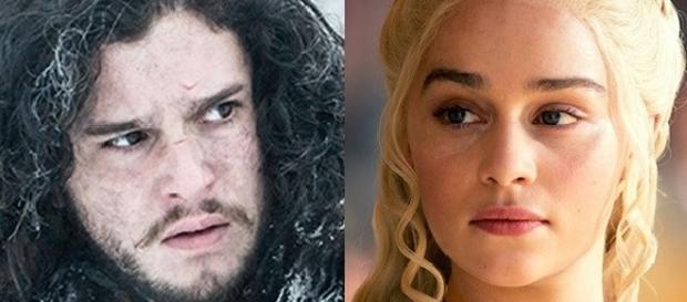 Immagine: Jon e Daenerys di Games of Throne.
