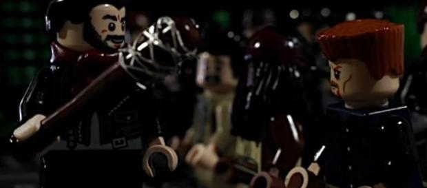LEGO Negan still strikes fear - image via YouTube Kristo499